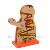 Child upon shef slide/wooden educational toys