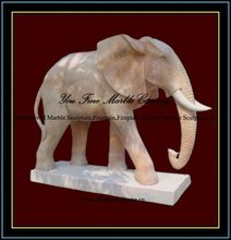 Marble Elephant Sculpture