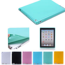 Candy Color case for ipad 4, TPU housing for ipad 4