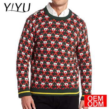 2017 hot sale mens lucu Lucu Santa natal jumper xmas sweater jelek