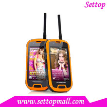 4.3 Inch waterproof walkie talkie rugged android phone S09+