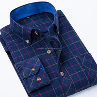 100%Cotton Plaid/Checks Casual mens flannel shirt with long sleeve