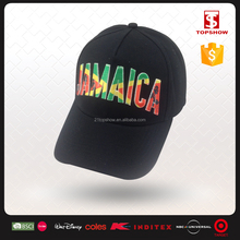 Topshow embroidery Jamaica national flag unique cheap baseball caps
