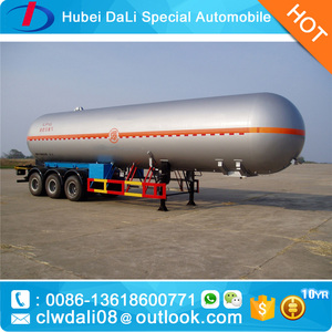 3 axles 12 wheels 10 - 60 M3 LPG TRANSPORT STORAGE SEMI TRAILER TRUCK on sales from China
