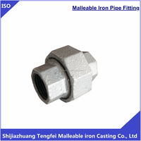 hot dipped galvanized malleable cast iron pipe fittings conical joint brass to iron seat union