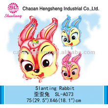 New design cute child toy white rabbit balloon