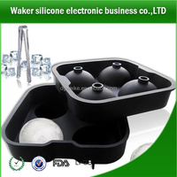 round shape silicone ice cube tray maker silicone 4 ice tray silicone whiskey ice ball tray