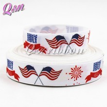 USA Flag Day printed grosgrain ribbon