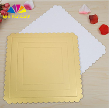 8inch DIY baking bread cardboard square gold paper cake tray