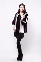 2015 winter colored fur coat for women