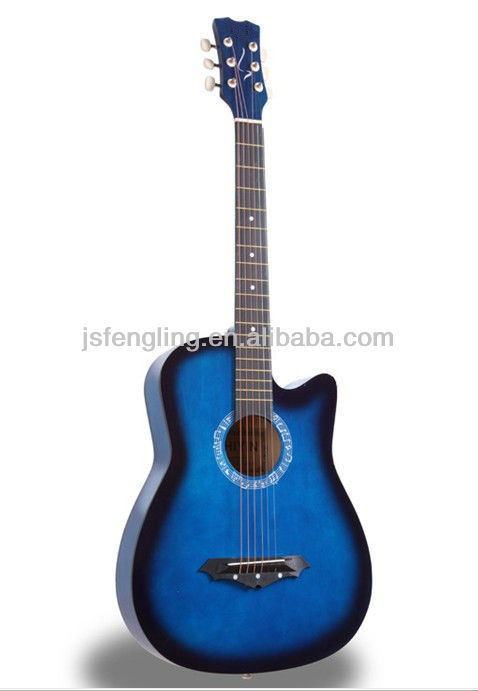 cheapest hot-selling 38'' blue acoustic guitar