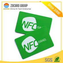 Contactless printable plastic F08 hf nfc smart chip card