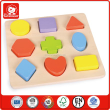 wondeful 10 pcs wooden mini fan toy for kids colourful megge shape board waterproof board games