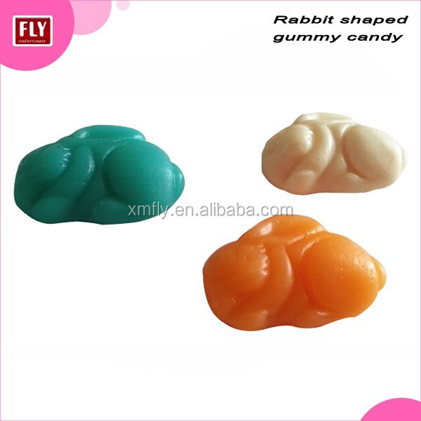 rabbit animal shape halal gummy candy with different flavours