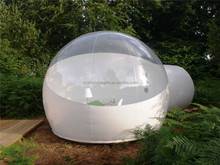 Half White Inflatable Bubble Tent Family Camping Backyard Transparent Tent Inflatable Lawn Tent
