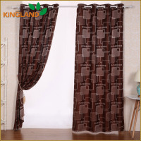 Latest Designs 2016 Free Sample Readymade Jacquard Curtains With Attached Valance
