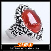 Nacarat onyx antique rings red stones