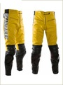Leather Motorbike Trouser(Motorbike Leather Pants ) Black yellow
