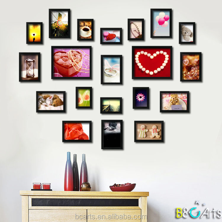 Collage Plastic Photo Frame Novelty Picture Frames for Modern Home Decoration