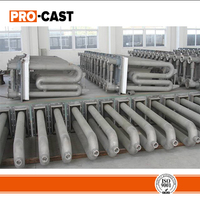 U and W- types radiant tubes by centrifugal casting