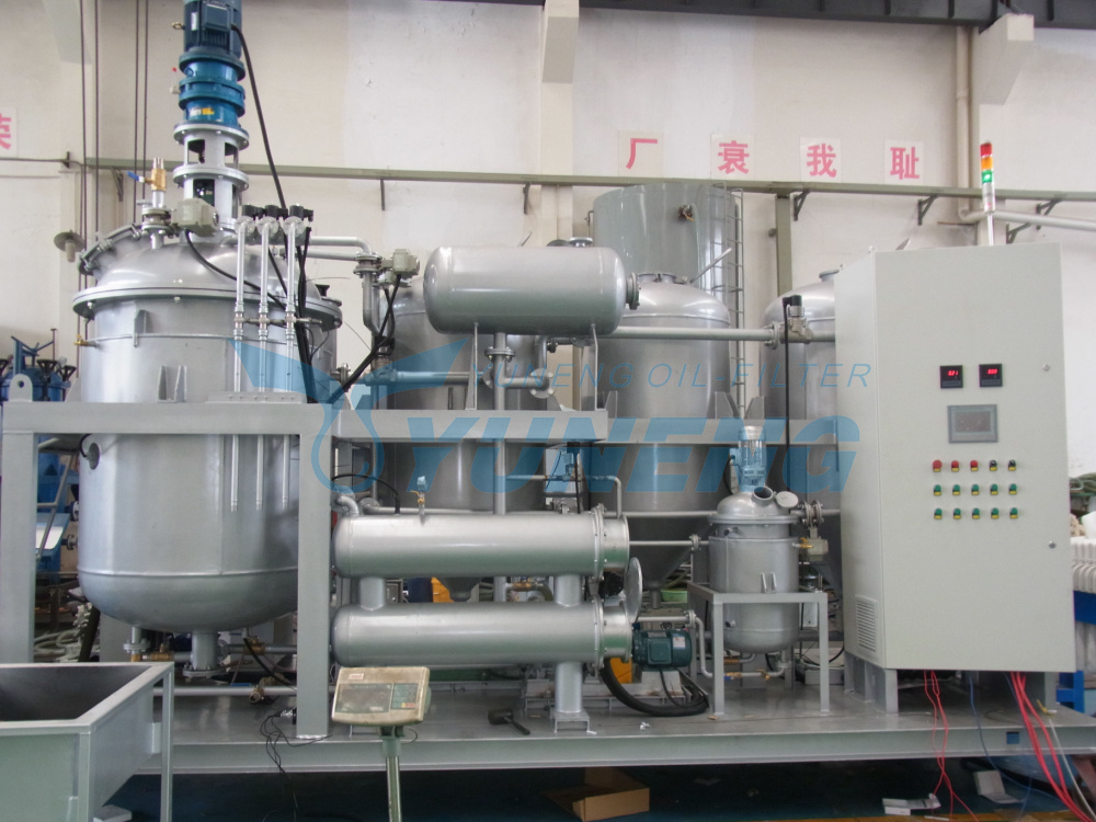 Remove Smell and Change Color Used Engine Oil Recycling Machine