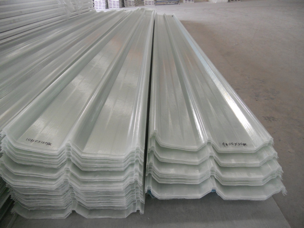 Fiberglass Trapezoidal Wave Sheet Translucent Roof Panel