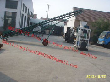 MKL450 Ring die wood pellet machine with 8m belt conveyor