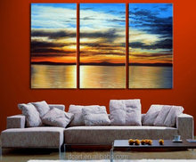 dusk sunset glow hot sell handmade decorative group painting on canvas