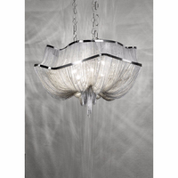 0807-3 20 Contemporary Silver Hotel Chandeliers Chain Shining Luxury Chandelier Lighting