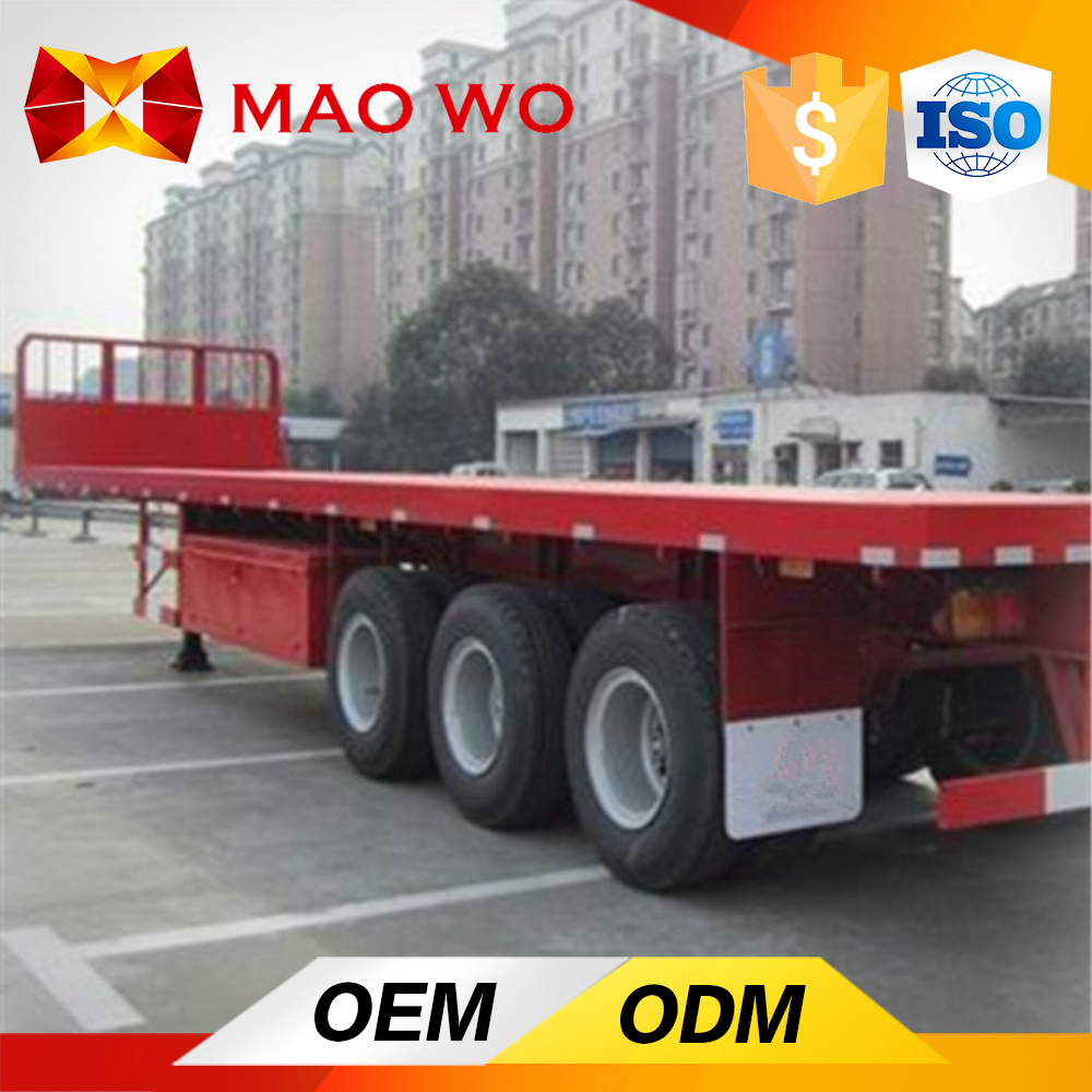 2016 Best Quality 3 Axles 40ft Flatbed Semi Trailer For Sale