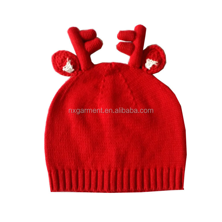 Chrismas Deer Hat Baby Winter Hat Baby Hat Knitted Warm Cap Cotton Toddler Beanie Baby Cap Kids Girl Boy Knitted Headgear