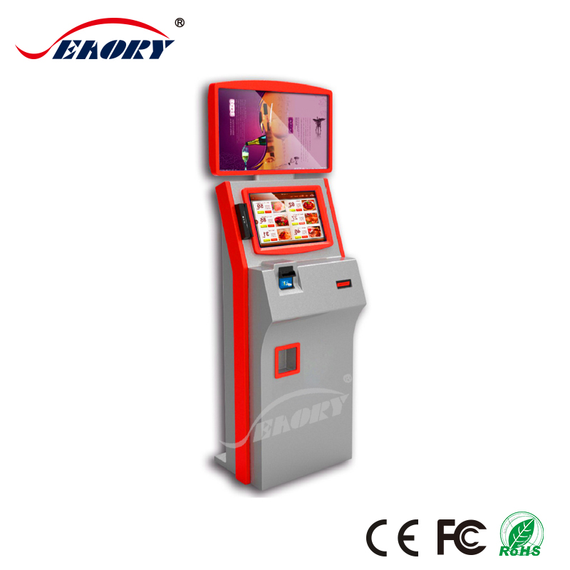 hot touch screen payment kiosk with visa card reader