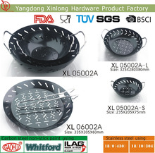 New carbon steel griddle pan round grill wok