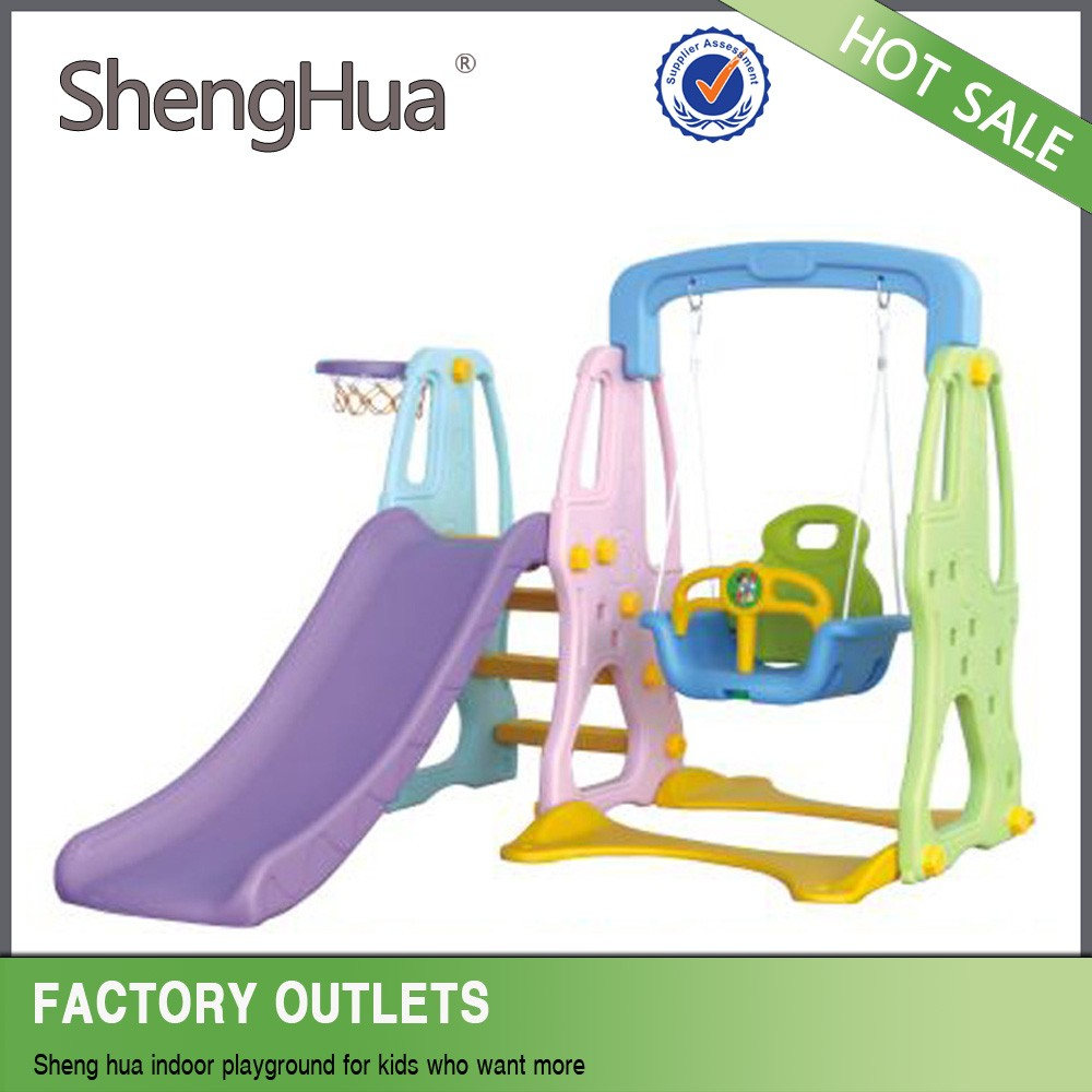 Factory price kids plastic slide swing set with TUV SGS certificate