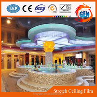 1.5 to 5.0 meters width acoustic ceiling tiles designs stretch pvc roofing membrane