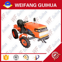 18hp yellow four wheel 2wd mini tractor with implement for hot sale