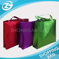 Custom Logo Cheap Reusable Glossy Laminated PP Non Woven Shoulder Shopping Tote Bag