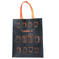Recycled customized silk-screen printing grocery non woven tote bag