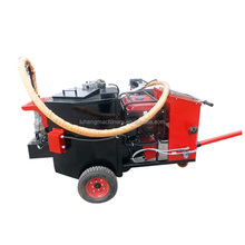 gasoline concrete pavement road crack joint sealing machine with hot melt kettle equipment