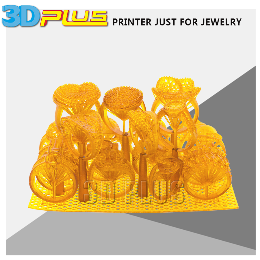 3D Plus Printing 0.01mm High Precision Jewllery Resin Models DLP 3D printing prototyping