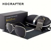 Newest Big Frame Brand Design Vintage Aviator Polarized Sunglasses