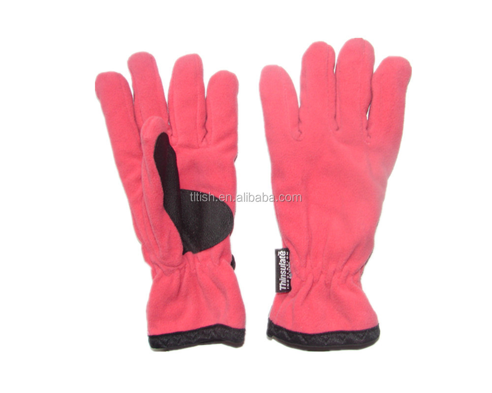New design latest style winter warm fleece gloves, promotion gloves