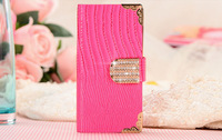 Factory Supplier Bling Bling Flip Phone Covers for Iphone 5/5S Leather Cases for Cell Phone Covers for Girls