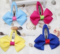 2015 Baby girl hair clips colorful bow kids hairpins children hair accessories in stock