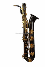 Taishan Low A Pitch Black Nickel Body Gold Lacquer Keys Baritone Saxophone