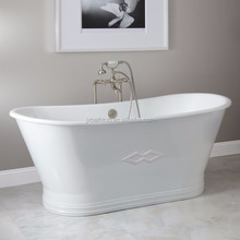 European style popular soaking skirted cast iron bath tub