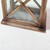 Professional design rustic wooden hanging candle holder lanterns with glass on four panels