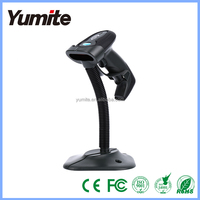 Automatic wired laser barcode scanner with sthand in POS system for supermarket USB scanner and long range