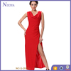 Sexy High Slit Maxi Red Lady Long Dress Fashion Woman Party Dress