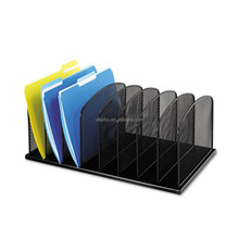 Black Steel Mesh Office Desk Organizer Folders, Desk File Paper Organizer